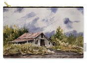 Barn Under Puffy Clouds Carry-all Pouch