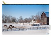 Barn With Horses  Carry-all Pouch