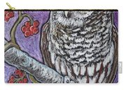 Barred Owl And Berries Carry-all Pouch