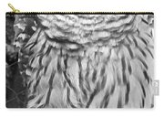 Barred Owl In Black And White Carry-all Pouch