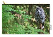 Barred Owl In Forest Carry-all Pouch