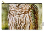 Barred Owl On Moss Carry-all Pouch