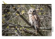 Barred Owl Square Carry-all Pouch