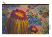 Barrel Cactus In Warm Light Carry-all Pouch