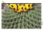 Barrel Cactus With Yellow Fruit Carry-all Pouch