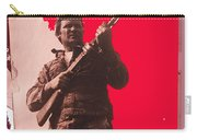 Barry Sadler Machine Gun Authentic Ww2 Africa Korps Hat Camouflage Clothes Collage Tucson 1971-2012 Carry-all Pouch