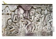 Bas-reliefs Of Khmer Daily Activities In The Bayon In Angkor Thom-cambodia  Carry-all Pouch