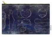 Baseball Patent Blue Carry-all Pouch