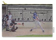 Baseball Batter Contact Digital Art Carry-all Pouch by Thomas Woolworth