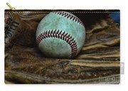 Baseball Broken In Carry-all Pouch by Paul Ward