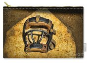 Baseball Catchers Mask Vintage  Carry-all Pouch by Paul Ward