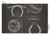 Baseball Construction Patent 2 - Gray Carry-all Pouch