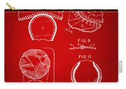 Baseball Construction Patent 2 - Red Carry-all Pouch by Nikki Marie Smith