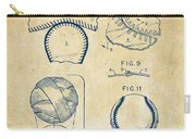 Baseball Construction Patent 2 - Vintage Carry-all Pouch