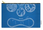 Baseball Construction Patent - Blueprint Carry-all Pouch by Nikki Marie Smith