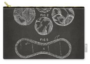 Baseball Construction Patent - Gray Carry-all Pouch