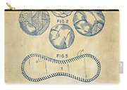 Baseball Construction Patent - Vintage Carry-all Pouch