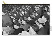Baseball Fans At Yankee Stadium For The Third Game Of The World Carry-all Pouch