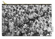 Baseball Fans In The Bleachers At Yankee Stadium. Carry-all Pouch