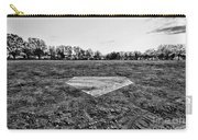 Baseball - Home Plate - Black And White Carry-all Pouch by Paul Ward