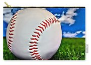 Baseball In The Grass Carry-all Pouch
