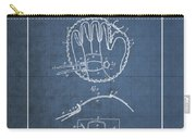 Baseball Mitt By Archibald J. Turner - Vintage Patent Blueprint Carry-all Pouch