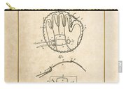 Baseball Mitt By Archibald J. Turner - Vintage Patent Document Carry-all Pouch