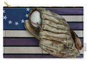 Baseball Mitt On American Flag Folk Art Carry-all Pouch