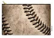 Baseball Old And Worn Carry-all Pouch by Paul Ward