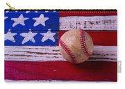 Baseball On American Flag Carry-all Pouch