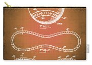 Baseball Patent Blueprint Drawing Sepia Carry-all Pouch