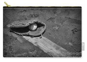 Baseball Pitchers Mound In Black And White Carry-all Pouch by Paul Ward
