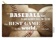Baseball Print With Babe Ruth Quotation Carry-all Pouch
