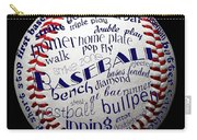Baseball Terms Typography 1 Carry-all Pouch