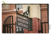 Baseball Warning Carry-all Pouch by Frank Romeo