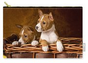 Basenji Puppies Carry-all Pouch by Marvin Blaine
