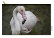 Bashful And Shy Flamingo. Carry-all Pouch
