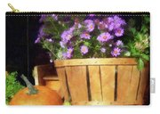 Basket Of Asters With Pumpkin And Gourd Carry-all Pouch