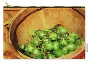 Basket Of Green Grapes Carry-all Pouch by Susan Savad