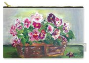 Basket Of Pansies Carry-all Pouch