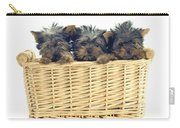 Basket Of Yorkies Carry-all Pouch