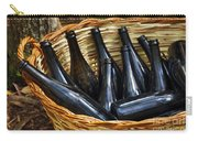 Basket With Bottles Carry-all Pouch by Carlos Caetano