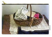 Basket With Cloth And Measuring Tape Carry-all Pouch