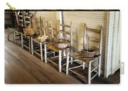 Baskets On Ladder Back Chairs Carry-all Pouch by Lynn Palmer