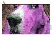 Basset Hound - Pop Art Pink Carry-all Pouch