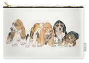 Basset Hound Puppies Carry-all Pouch by Barbara Keith