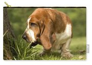 Basset Hound Sniffing Carry-all Pouch
