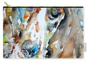 Basset Hound - Watercolor Portrait.1 Carry-all Pouch