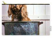 Bath Time - King Charles Spaniel Carry-all Pouch by Edward Fielding