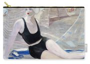 Bather In A Black Swimsuit Carry-all Pouch